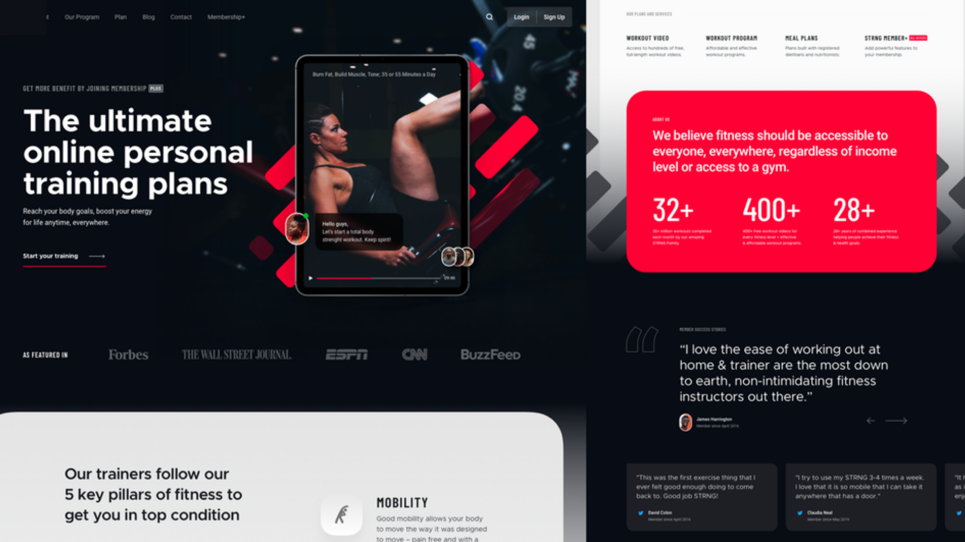 Website for Fitness Influencer by InfluenceBLU